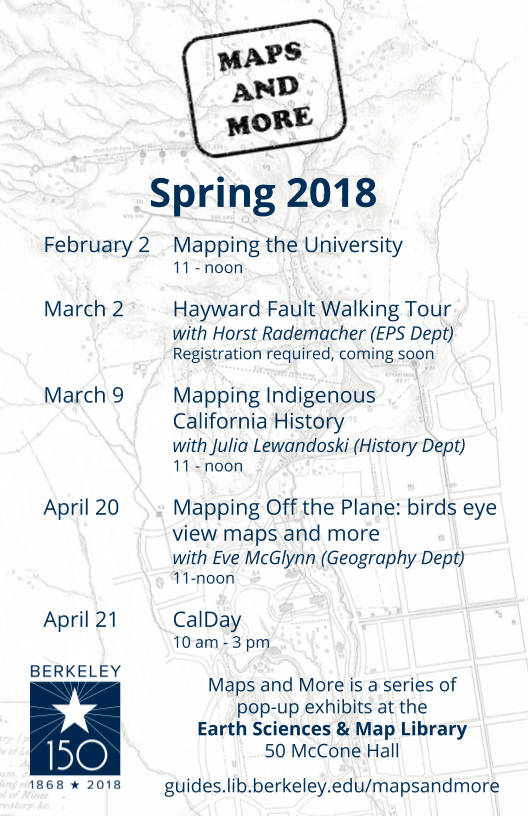 Maps and More Spring 2018 schedule