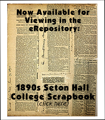 scan of Seton Hall College scrapbook