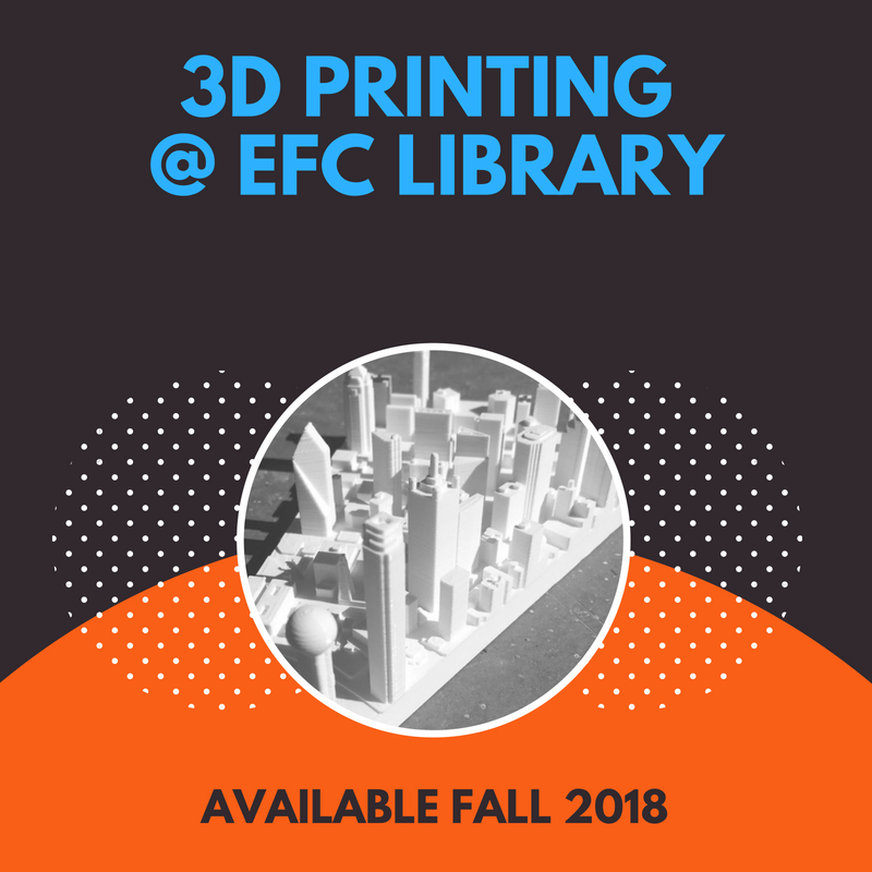 3D Printing at EFC Library Logo