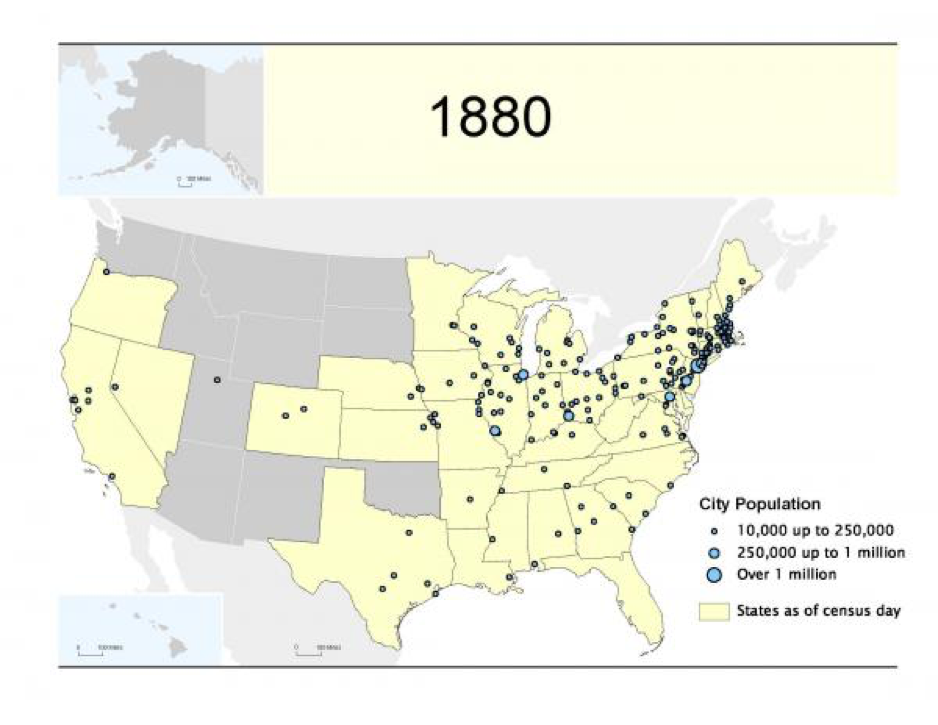 map of 1880 population