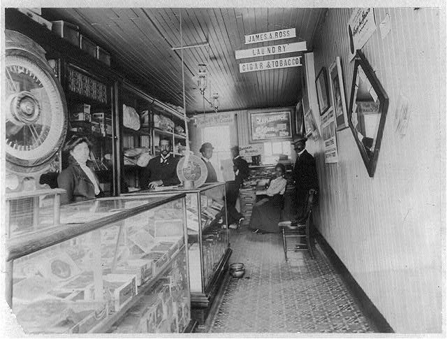 Interior of Negro store, Buffalo, N.Y.