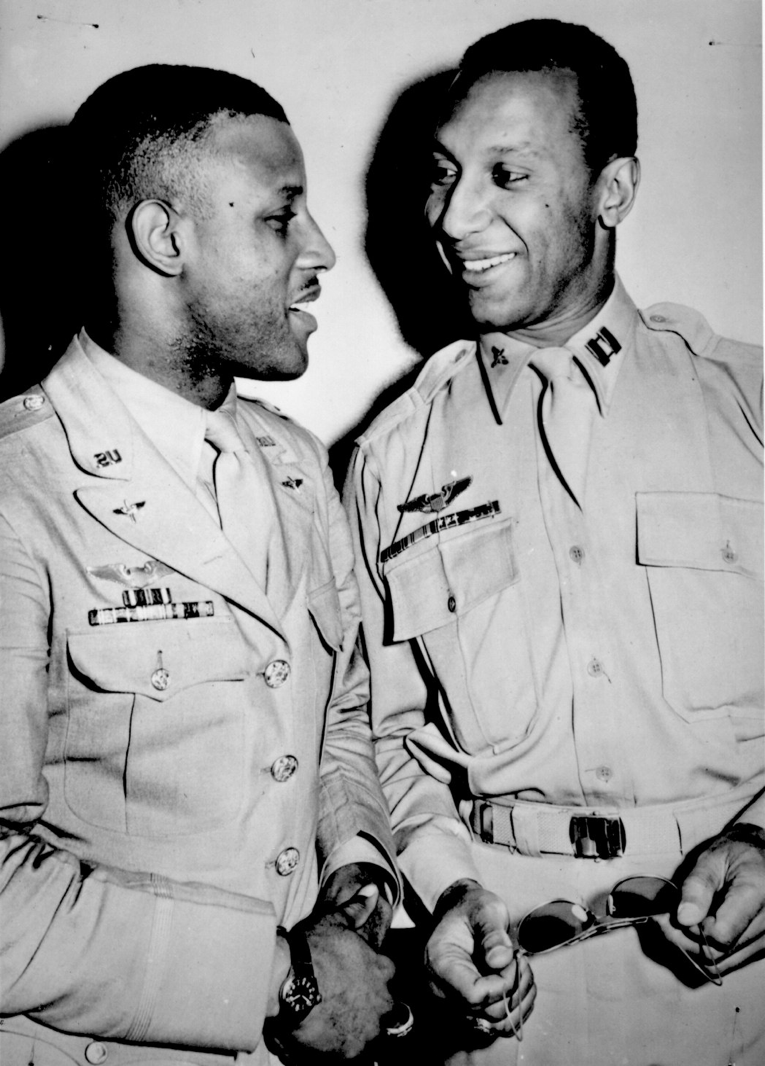 Two African American men During World War II.