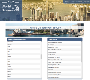 A to Z World Business Homepage