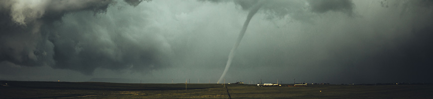 Photo of funnel cloud