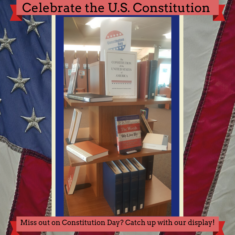 constitution day book display