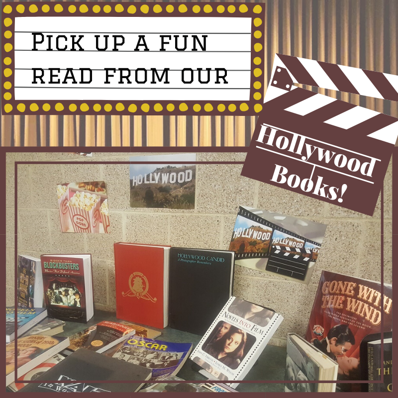 hollywood books display