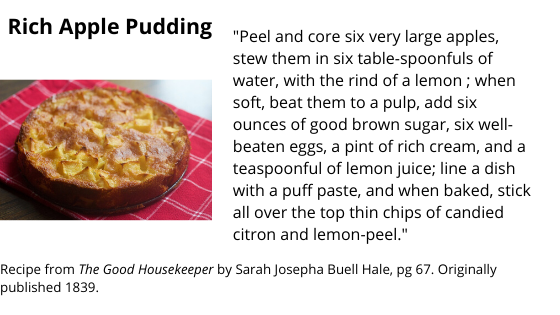 rich apple pudding
