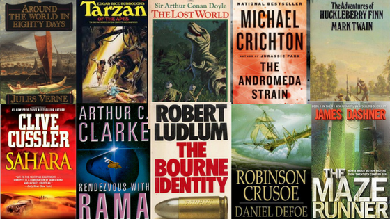 action/adventure books