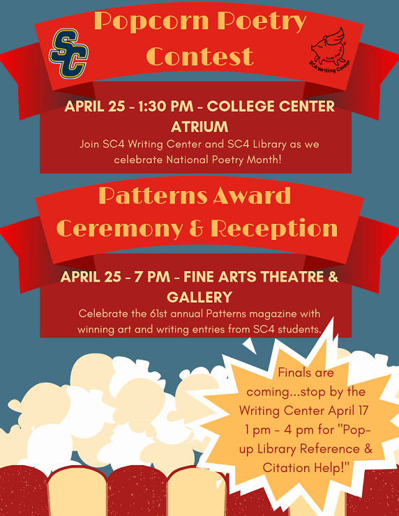 popcorn poetry/patterns reception flyer
