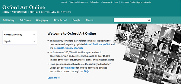 Oxford Art Online Database