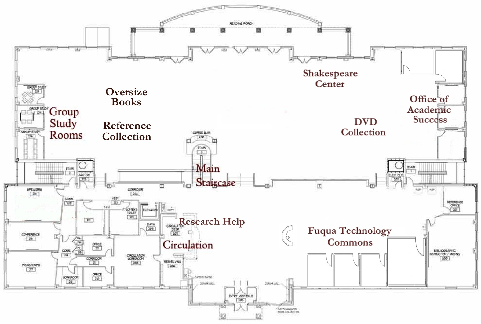 Floor plan for the 2nd Floor