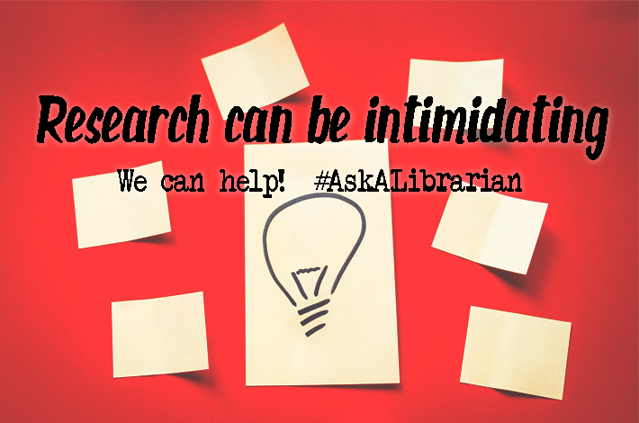 Librarians can help with your research
