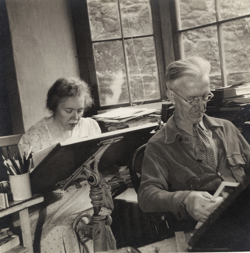 photograph of Haders in the studio