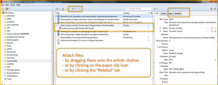 Adding PDF files to Zotero citations