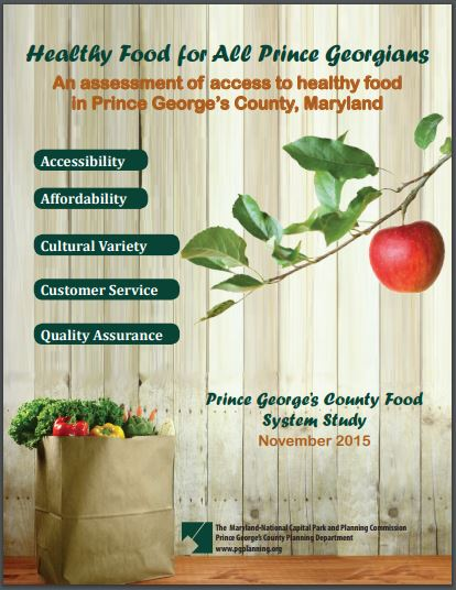 Cover of Healthy Food for All Prince Georgians Report