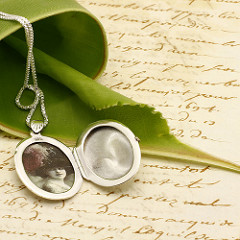 locket and letter