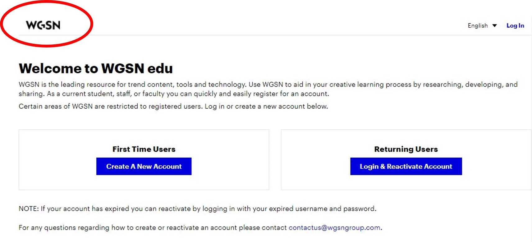 WGSN EDU quick start screenshot