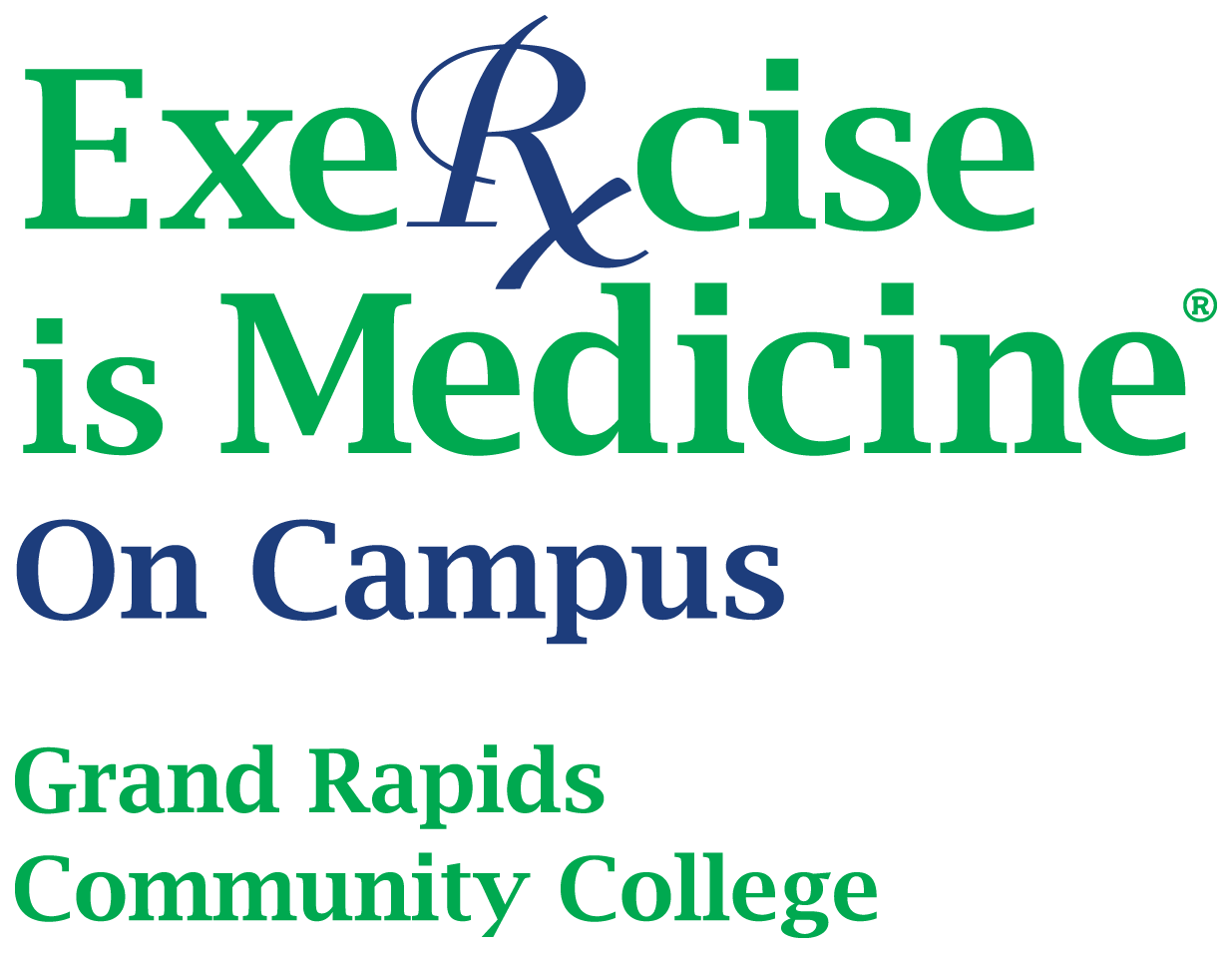 Exercise is Medicine GRCC logo