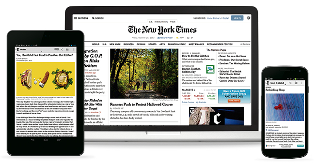 New York Times platforms