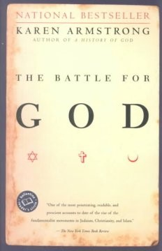 Book Cover - The Battle for God.