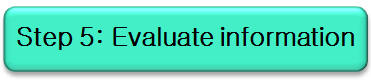 Button: evaluate information