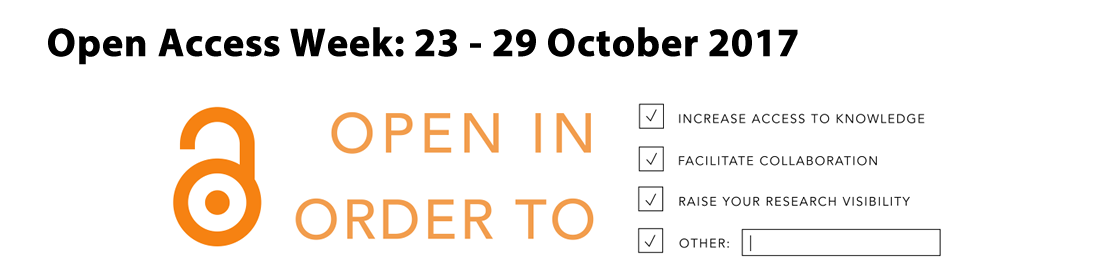 Open Access Week 2017 Banner