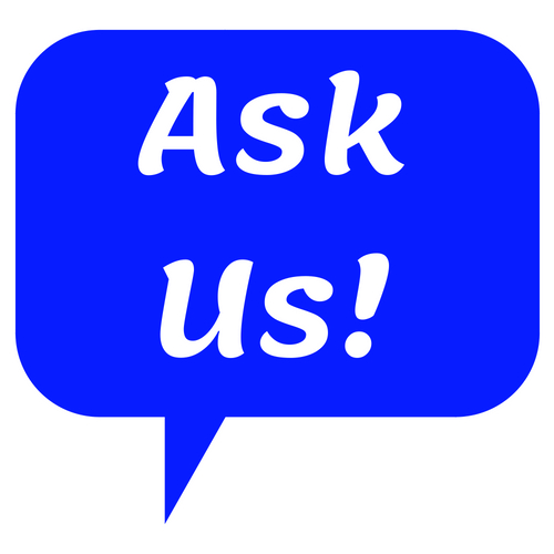 AskUs logo with hyperlink to Help and FAQ page