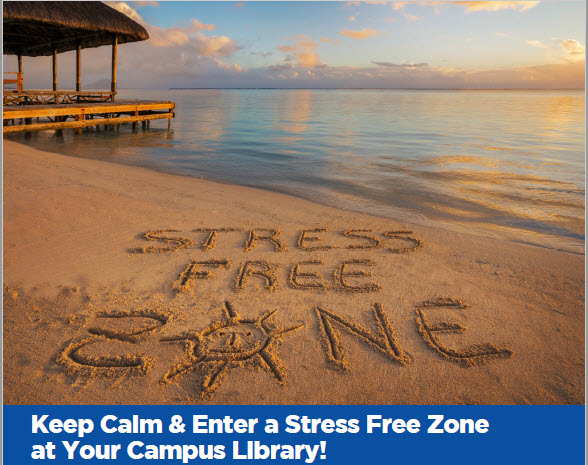 Photo of stress free zone flyer from May 2018