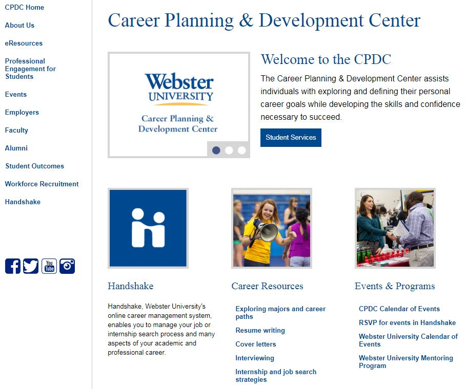 The Career Planning website