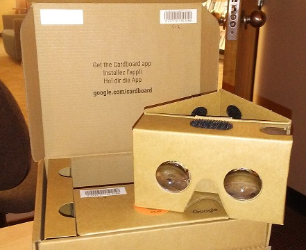 Google cardboard 3D virtual reality viewer