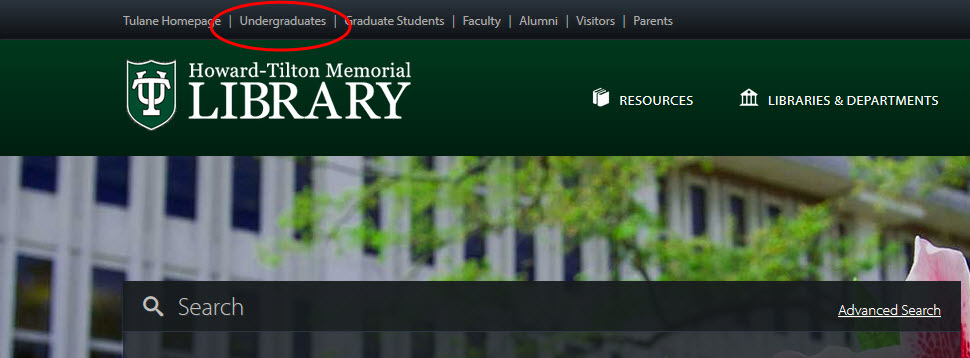 Howard-Tilton Memorial Library website