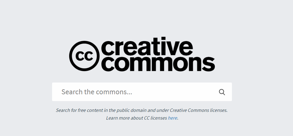 Image of Creative Commons Search Engine portal