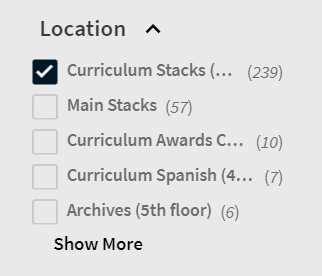 Location Curriculum Stacks
