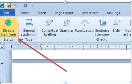 screenshot of microsoft word and grammarly app