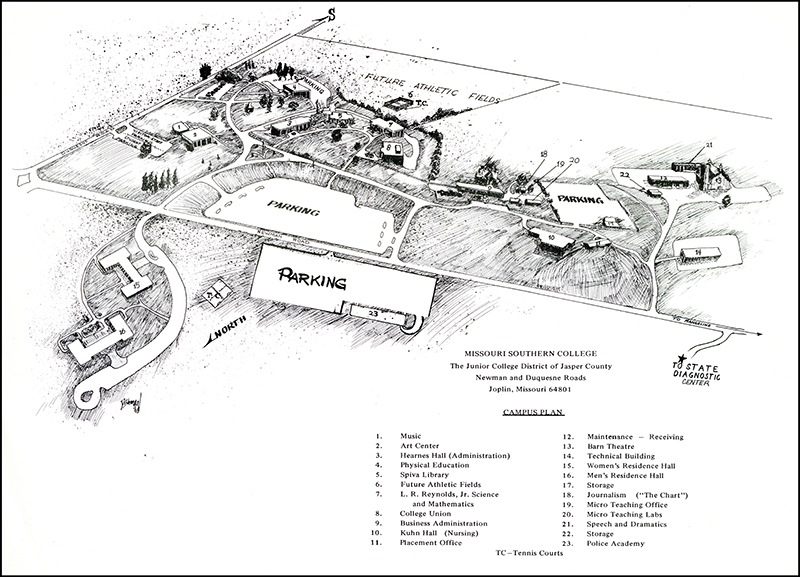 1969 - Missouri Southern College Campus Map