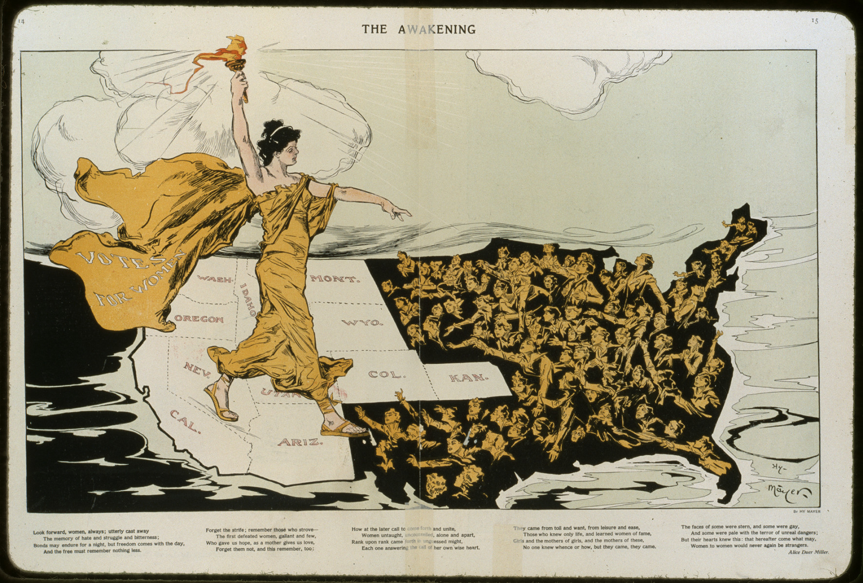 The Awakening, illustration by Henry Mayer, 1915. Image links to item on the Library of Congress website.