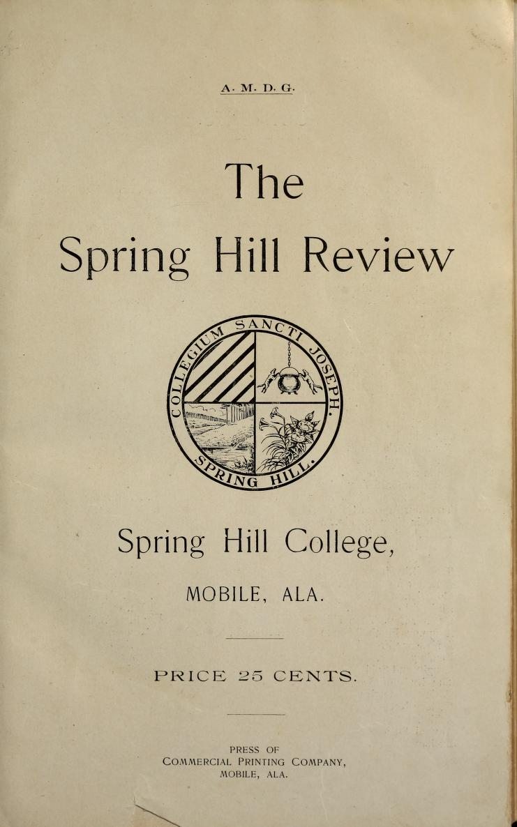 Cover page of the 1905 spring hill review