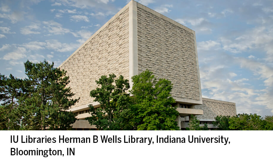 Exterior, IU (Bloomington), Herman B Wells Library