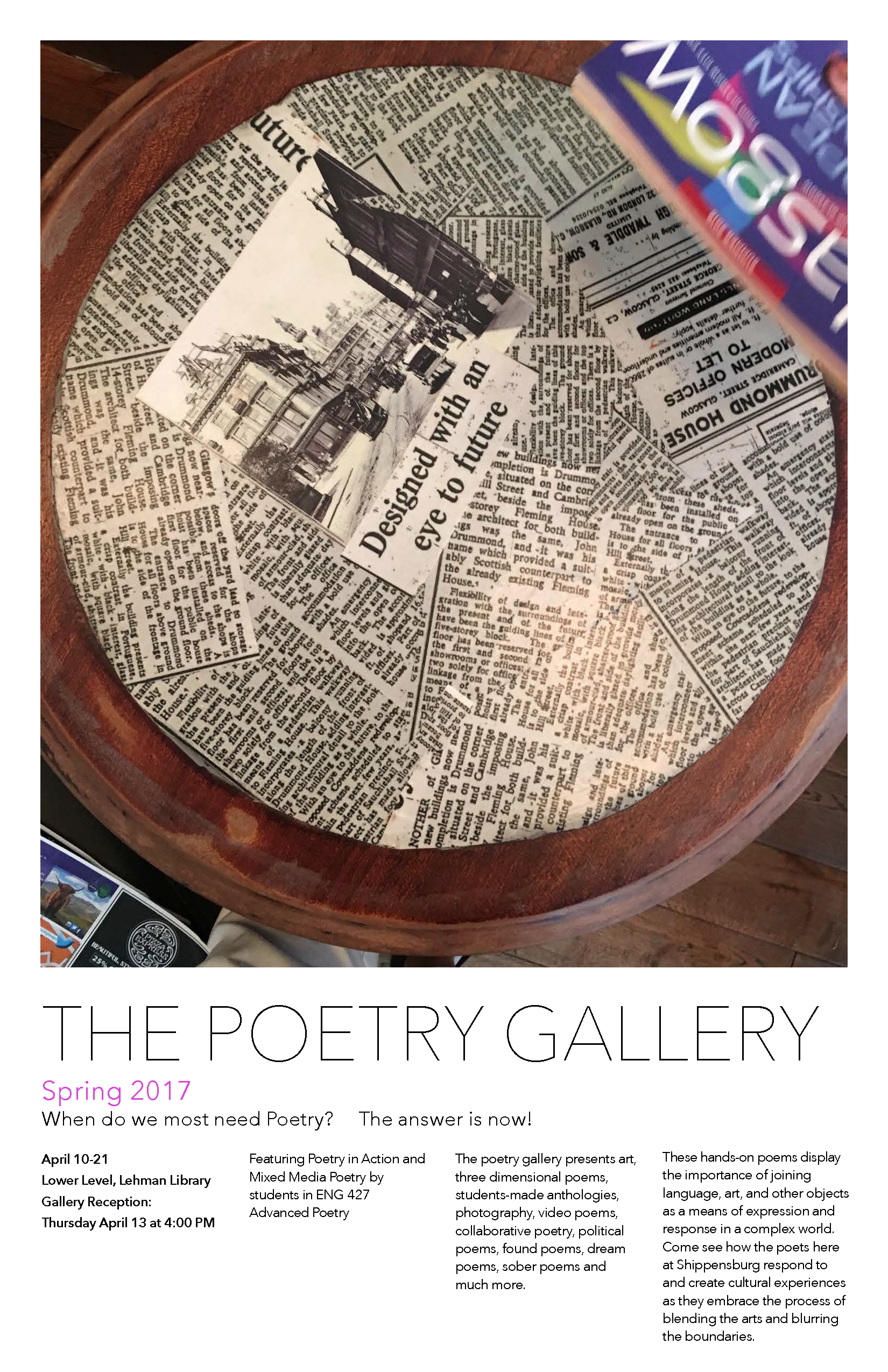 poetry gallery poster