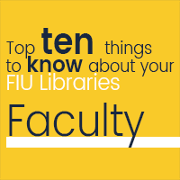 Top 10 things faculty should know about the libraries!