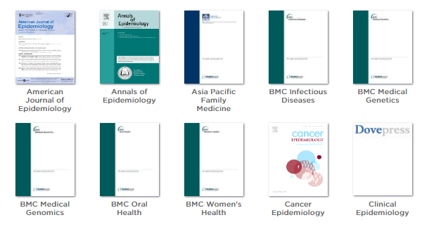 Epidemiology journals screenshot