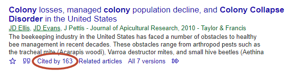 [ Google Scholar's Cited By Option ]