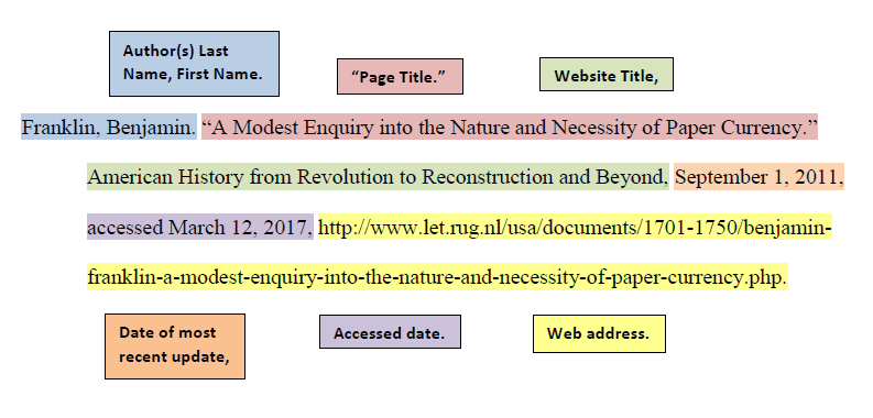 [ Turabian Example for Web Page Citation ]