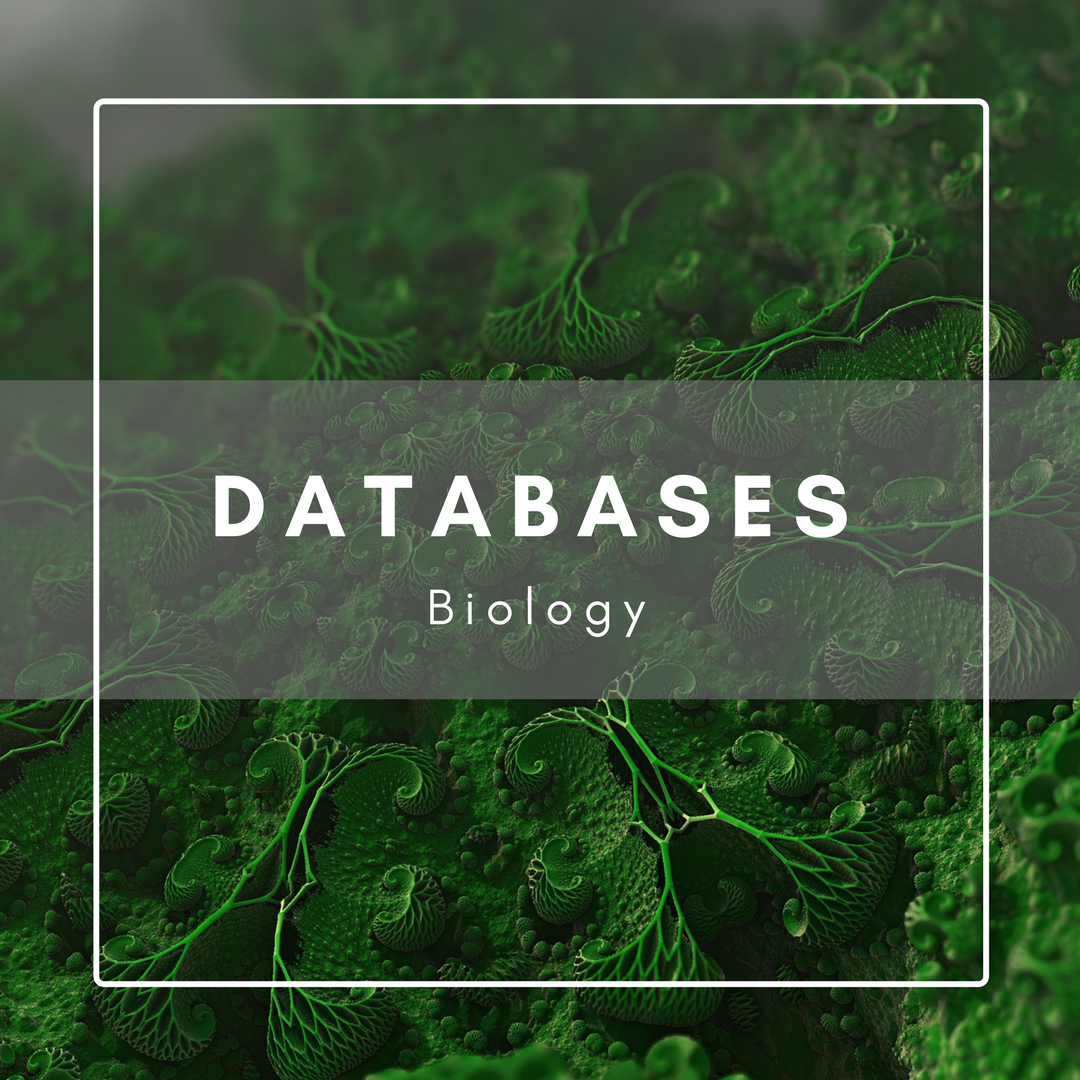 Databases for biology decorative