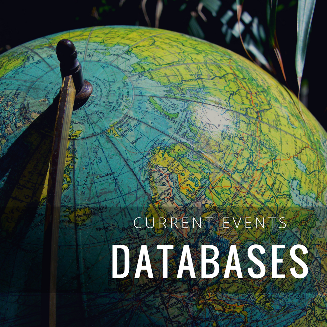 Databases for current events decorative