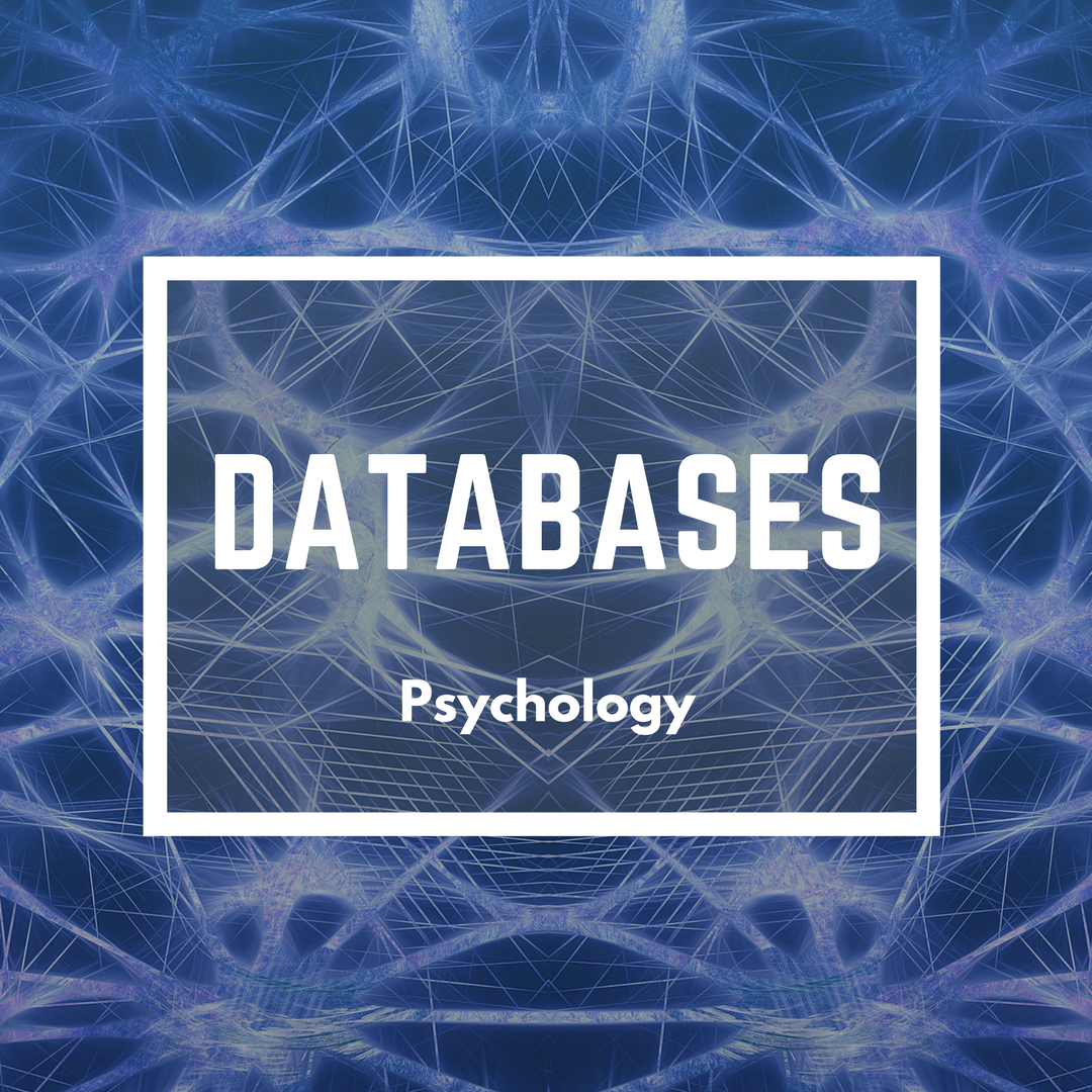 Databases for psychology decorative
