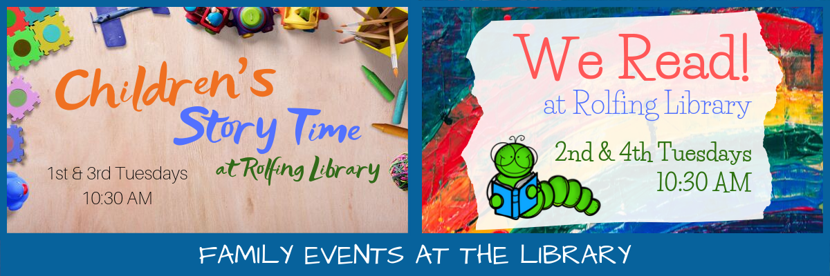 Family Events at the Library - Tuesdays at 10:30