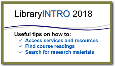 library intro 2018