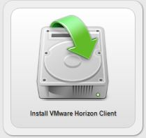 install vmware horizon client button