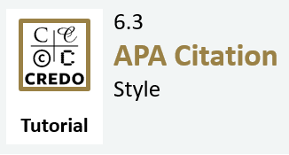 6.3 Tutorial: APA Citations